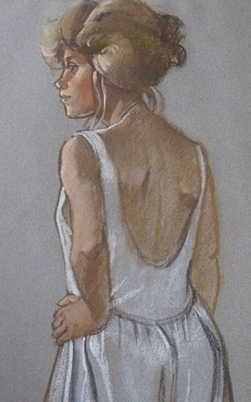 Ken Symonds Original Pastel Painting Portrait Of Val
